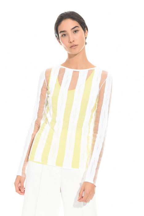 Sheer striped sweater Intrend