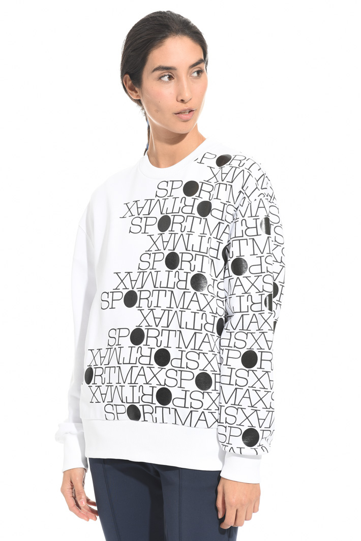 Sweatshirt with placed print Intrend
