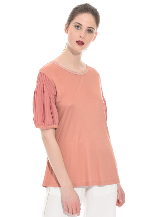 Pleated sleeve top Intrend