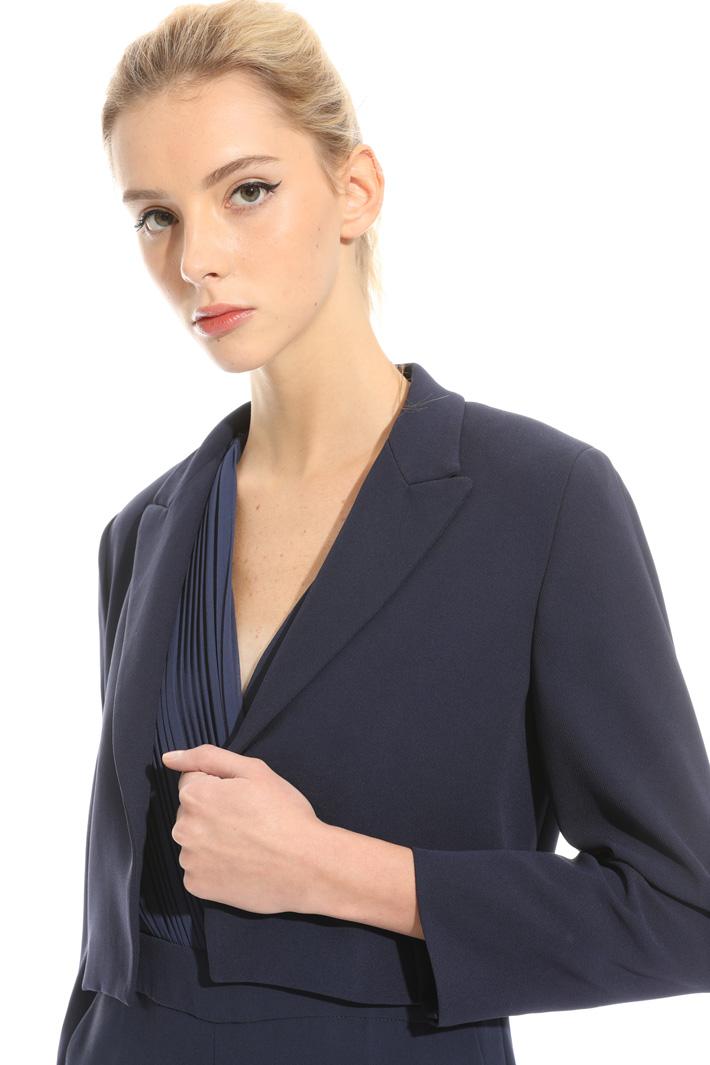 Lapel bolero jacket Intrend
