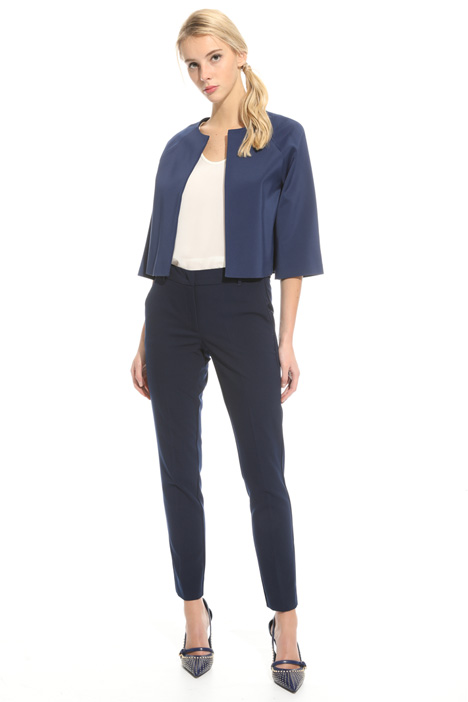 Stretch faille bolero jacket Intrend