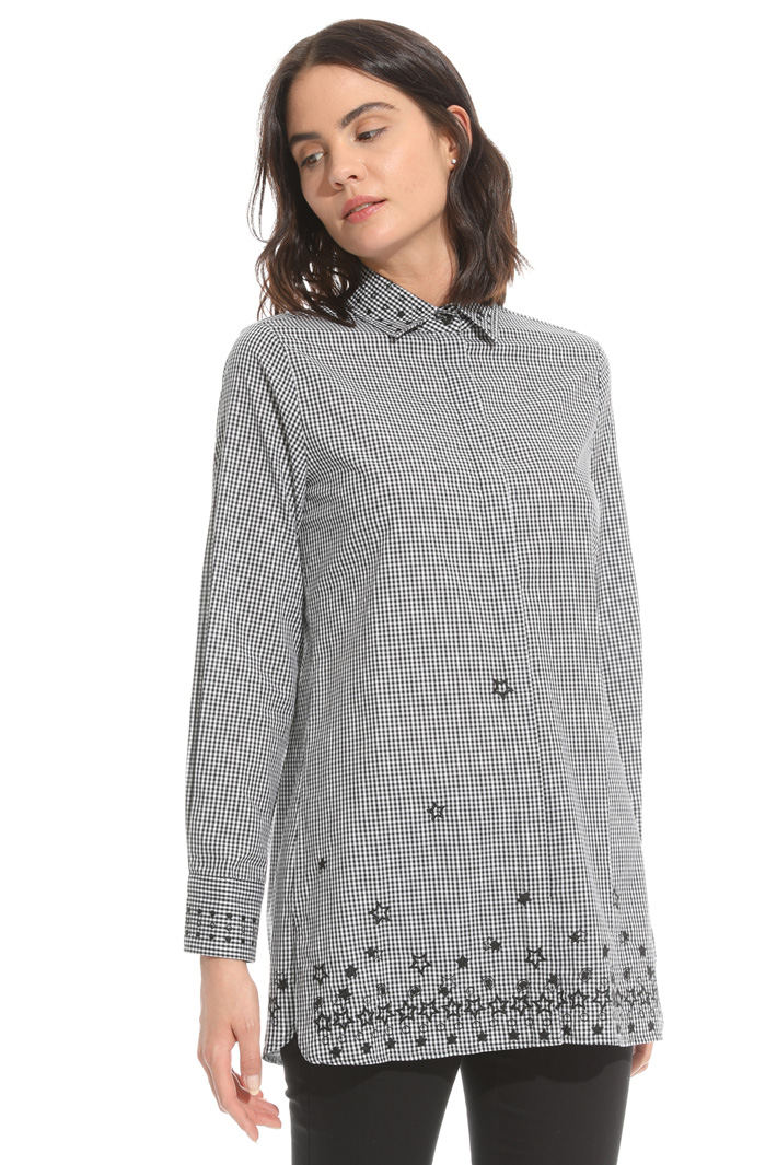 Yarn-dyed poplin shirt Intrend