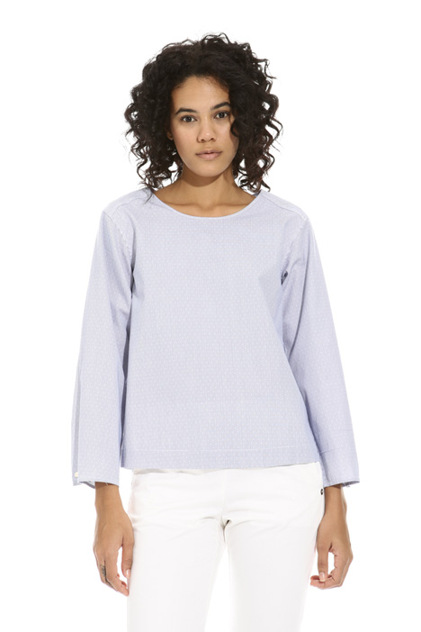 Blusa in bastonetto di cotone Intrend
