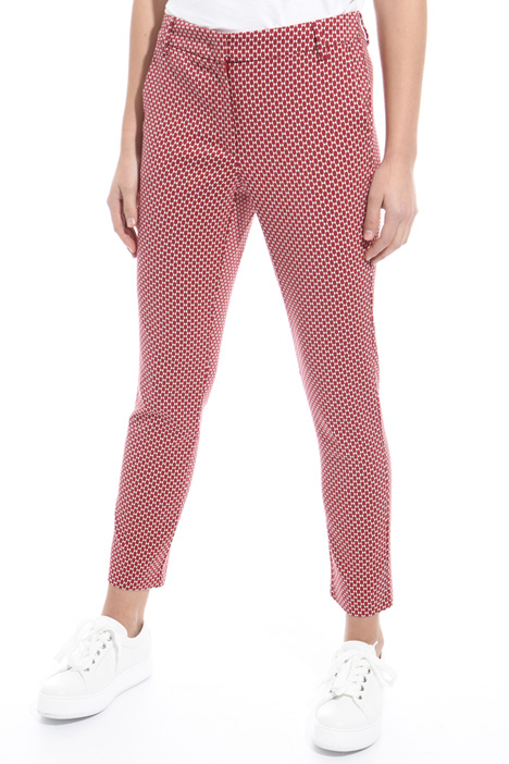 Pantalone jacquard stretch Intrend