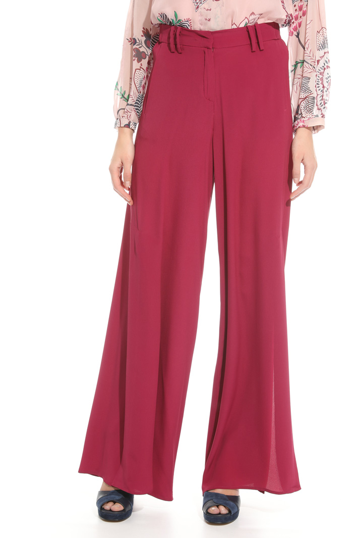 Fluid trousers with slits Intrend