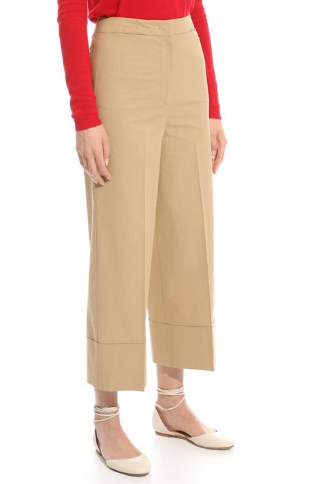 Pantalone cropped in popeline Intrend