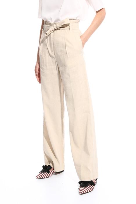 Slub fabric trousers Intrend