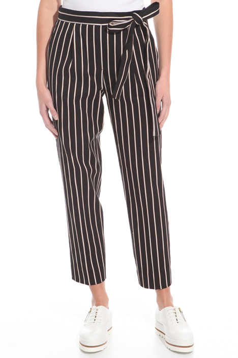 Yarn-dyed striped trousers Intrend