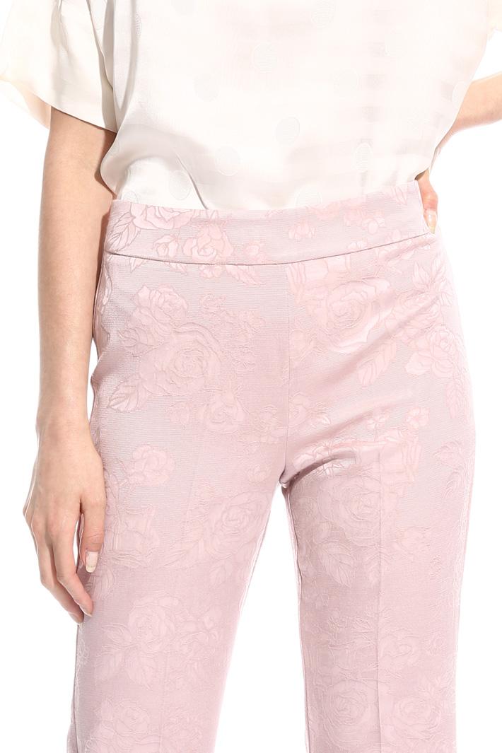 Straight-leg jacquard trousers Intrend