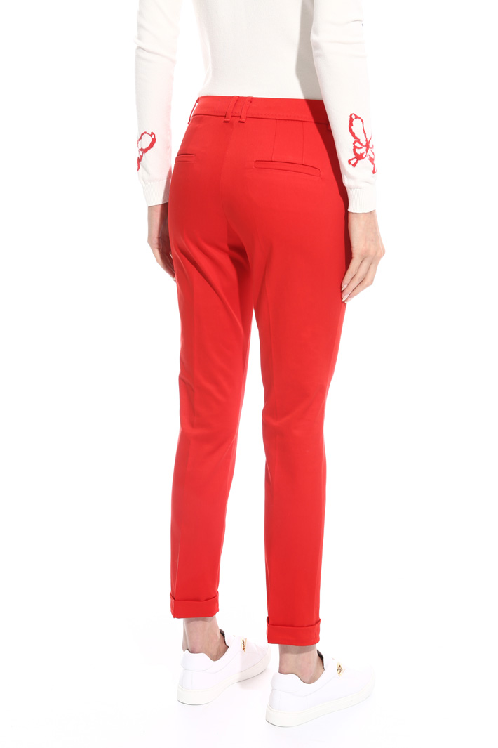 Fitted drill trousers Intrend