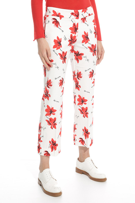Printed faille trousers Intrend