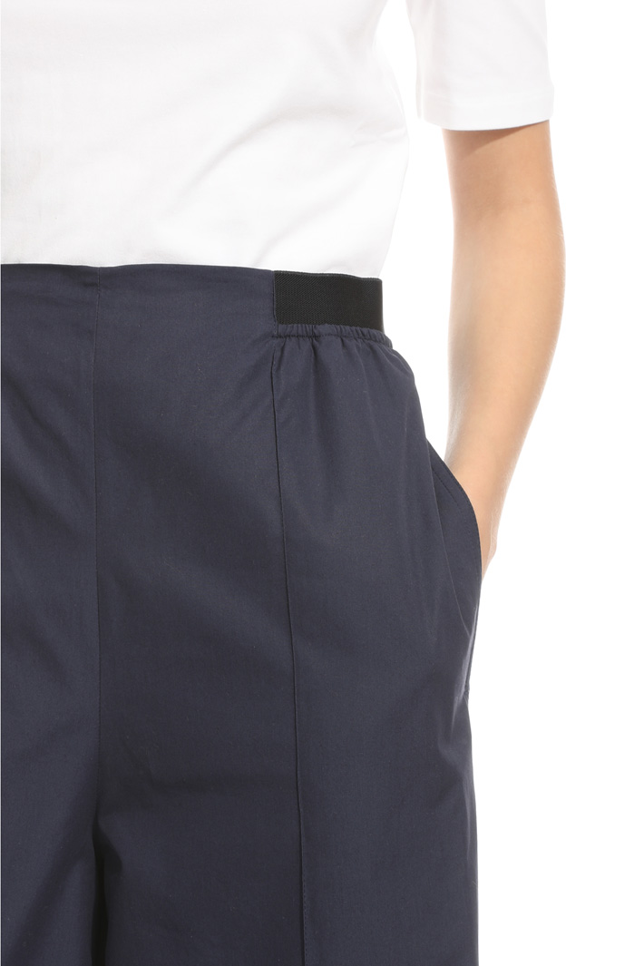 Flared poplin trousers Intrend
