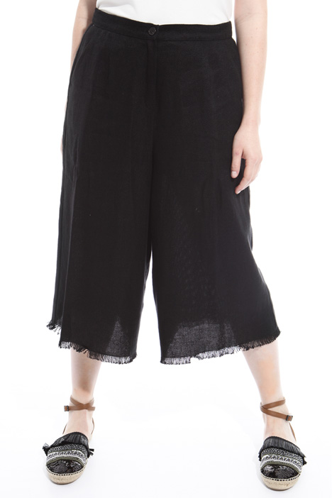 Fringed cropped trousers Intrend