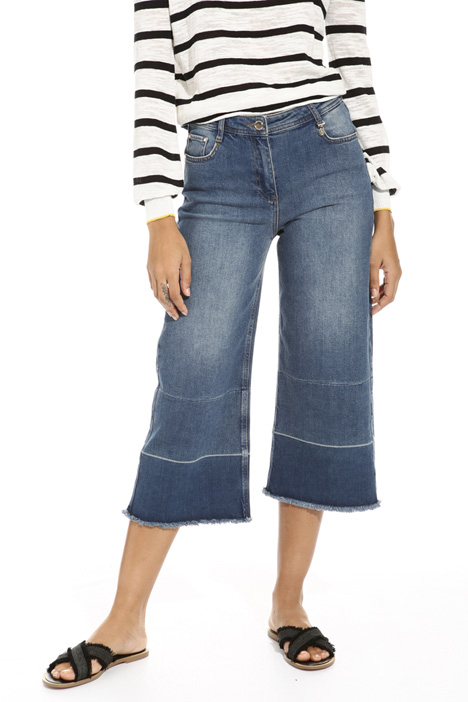 Fringed cropped jeans Intrend