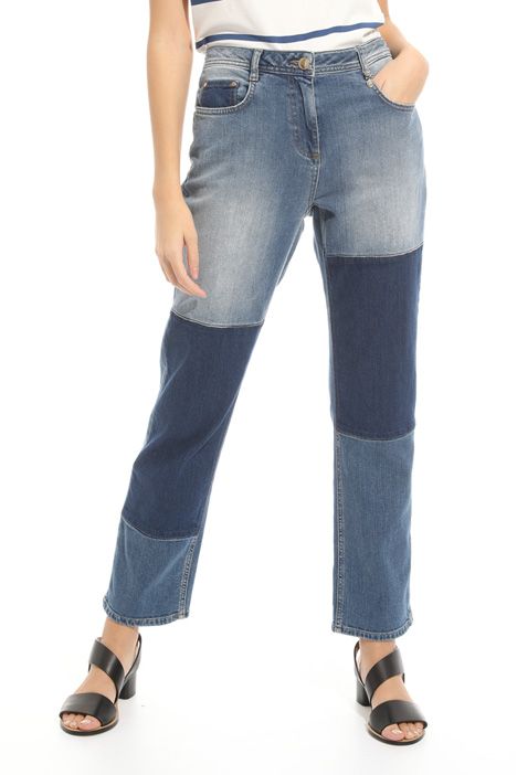 Denim con bande scure Intrend