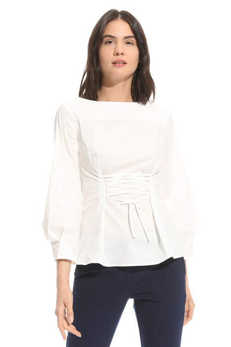Laced cotton blouse Intrend
