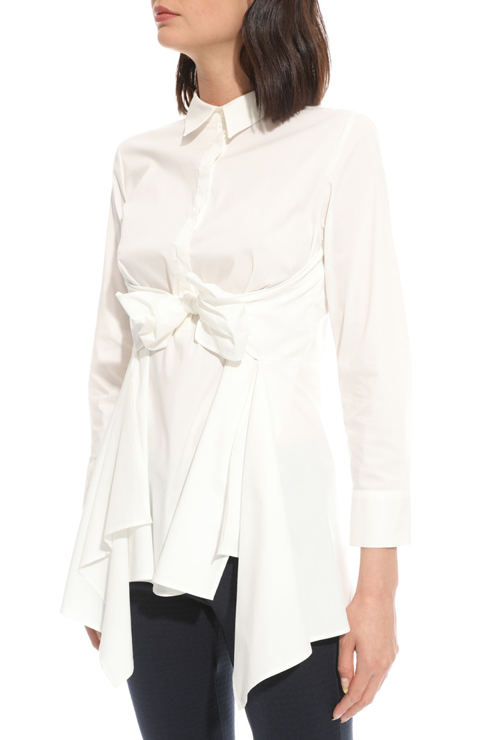 Knotted sash shirt Intrend