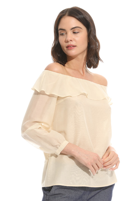 Top in voile con scollo bardot Intrend