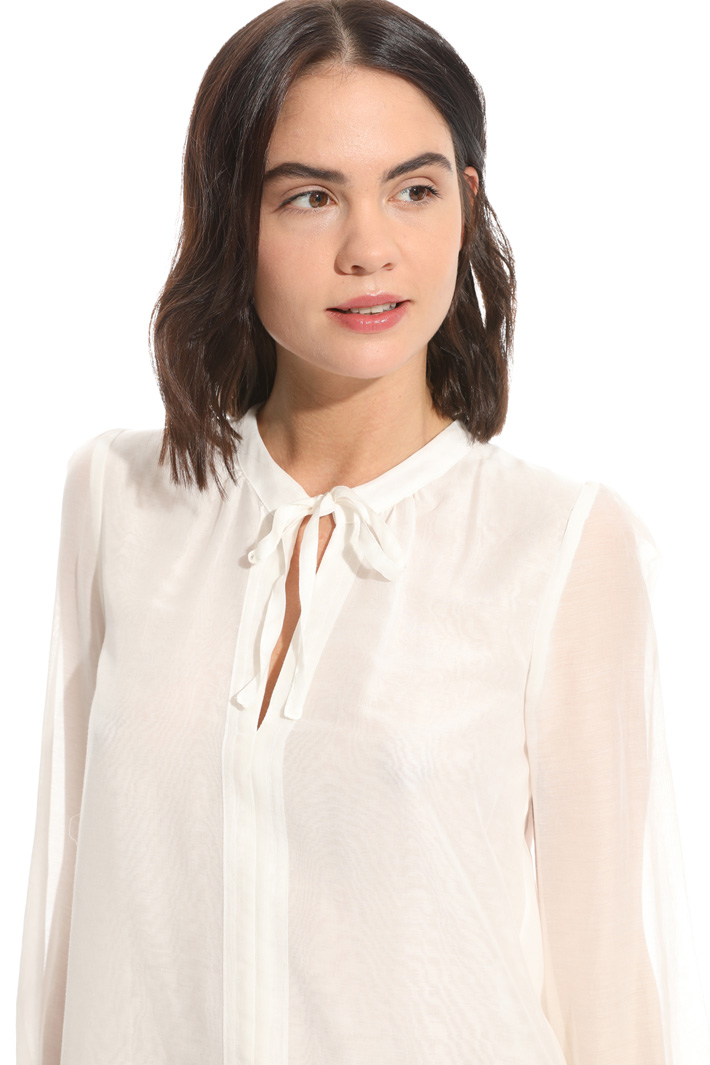 Cotton and silk voile blouse Intrend