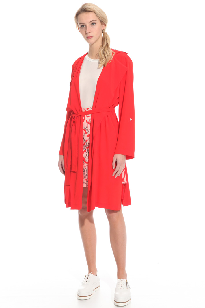 Crepe fabric duster coat  Intrend