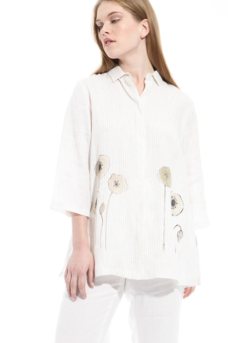 Printed linen shirt Intrend