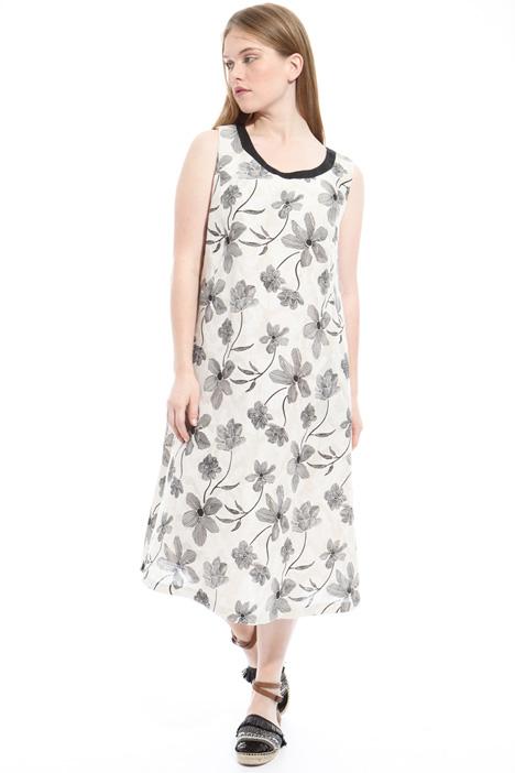 Sleeveless jacquard dress Intrend