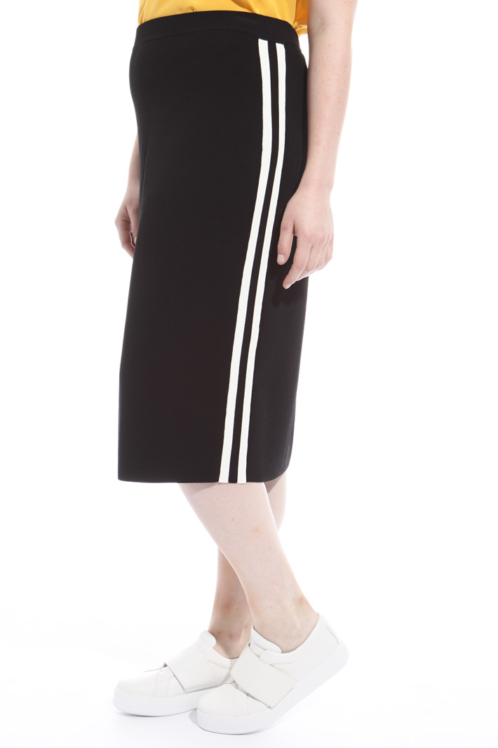 Skirt with contrasting insert Intrend