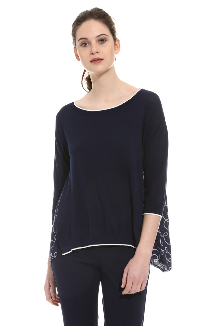 Oversized cotton sweater Intrend