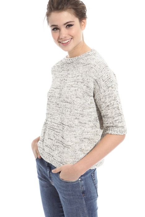 Boxy-fit cotton sweater Intrend