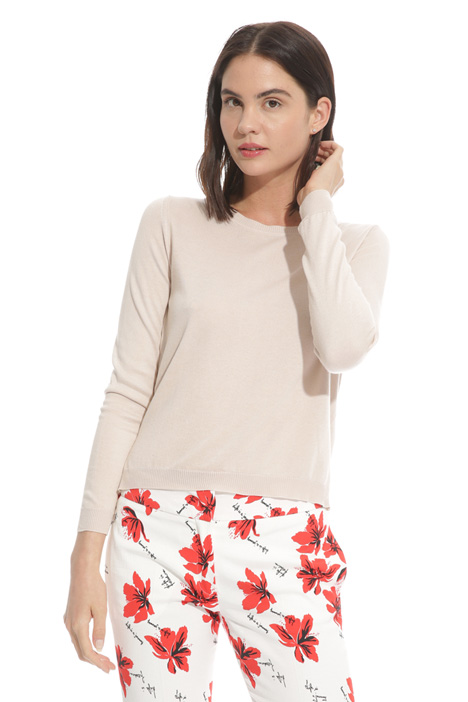 Cotton and silk sweater Intrend