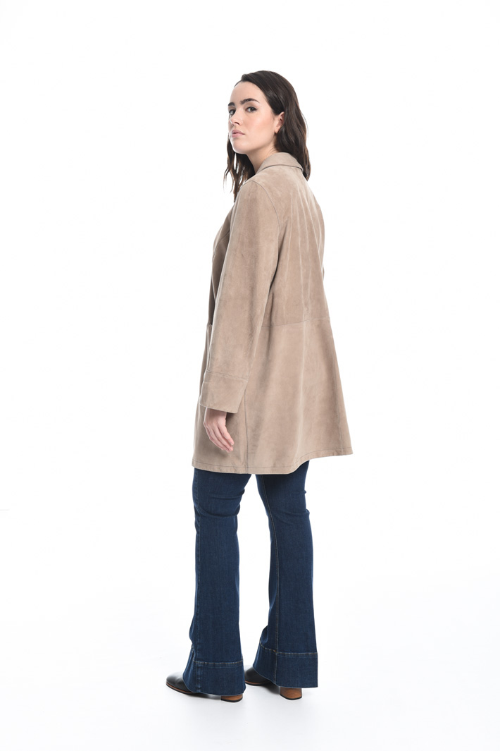 Suede duster coat Intrend