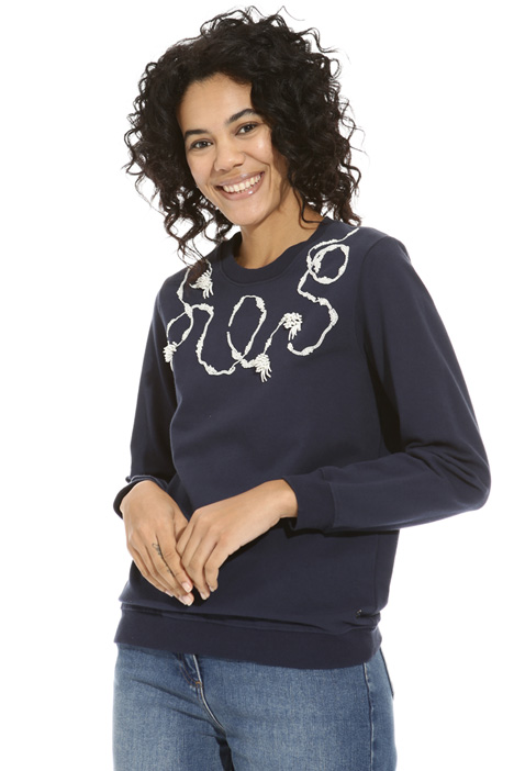 Sweatshirt with beads  Intrend