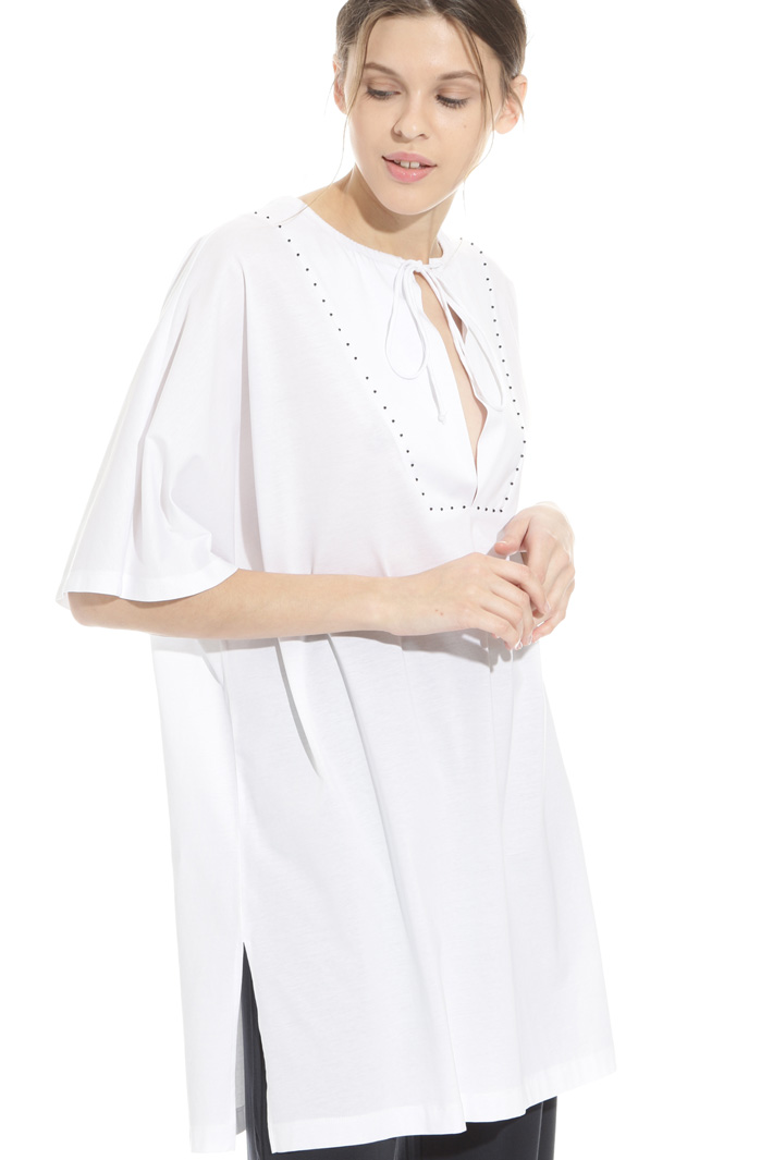 Cotton tunic with beads Intrend