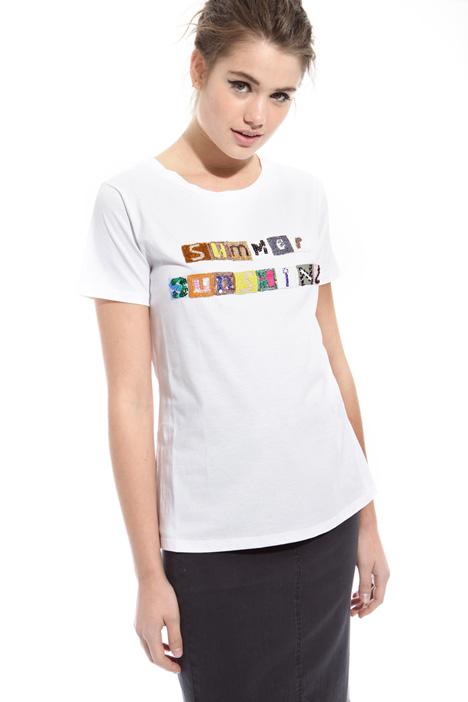 T-shirt con paillettes Intrend