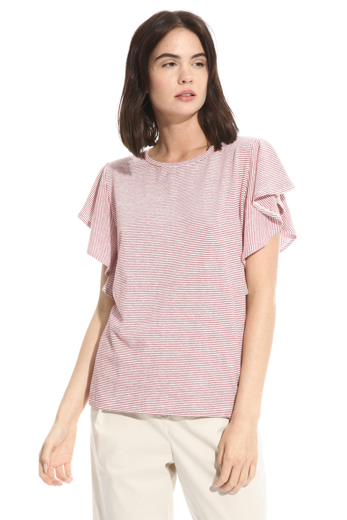 Flounced sleeve T-shirt Intrend