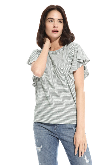 Flounced sleeve T-shirt Intrend