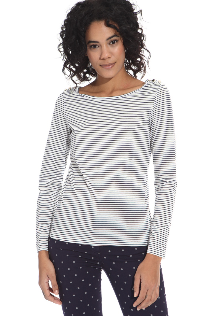 T-shirt in jersey tinto filo Intrend