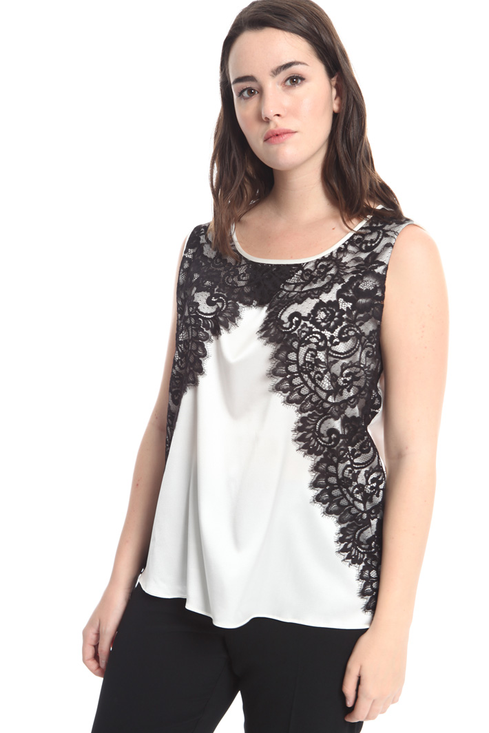 Silk and lace top Intrend