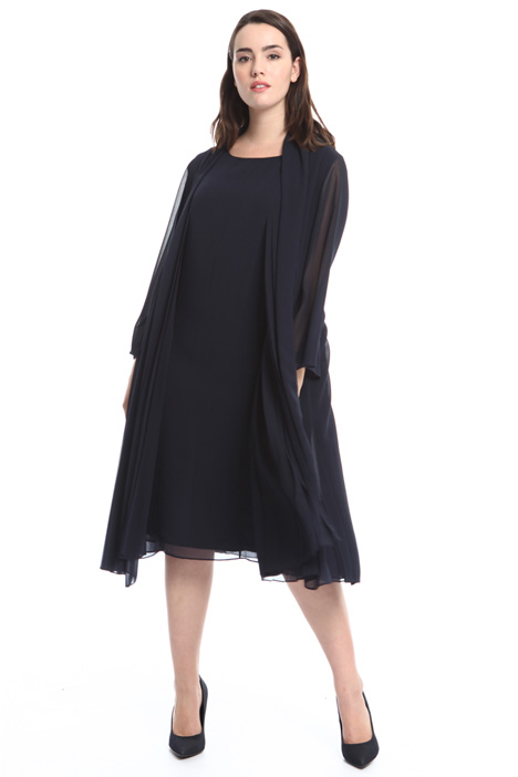 Pleated georgette duster coat Intrend