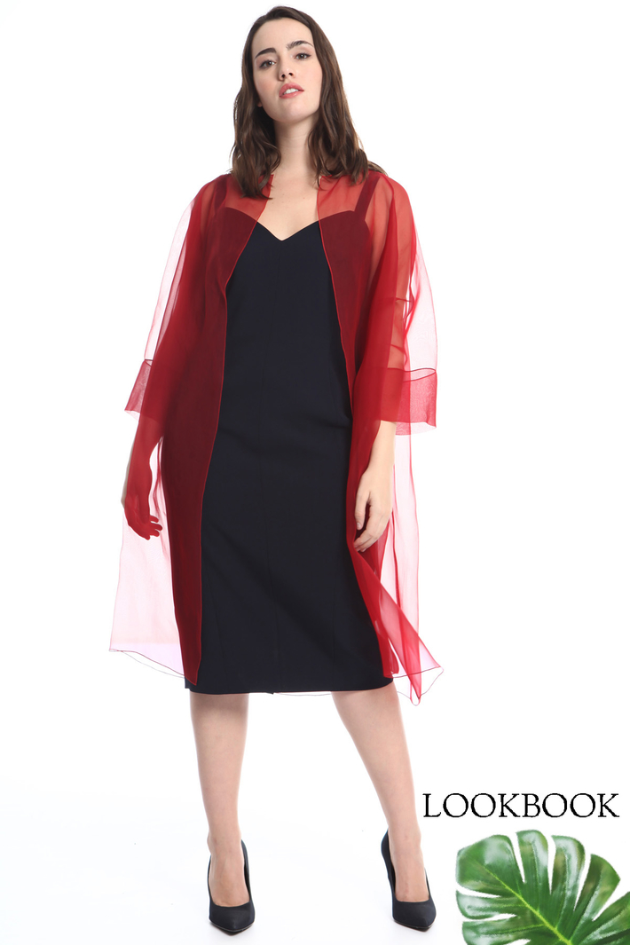 Silk organza duster coat Intrend