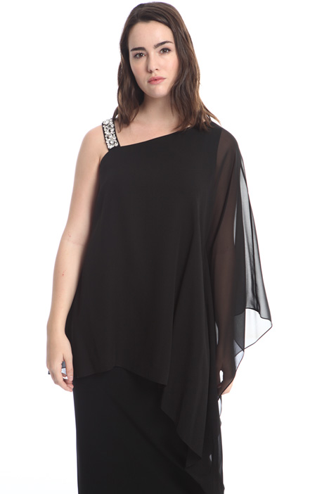 One-shoulder blouse in silk Intrend