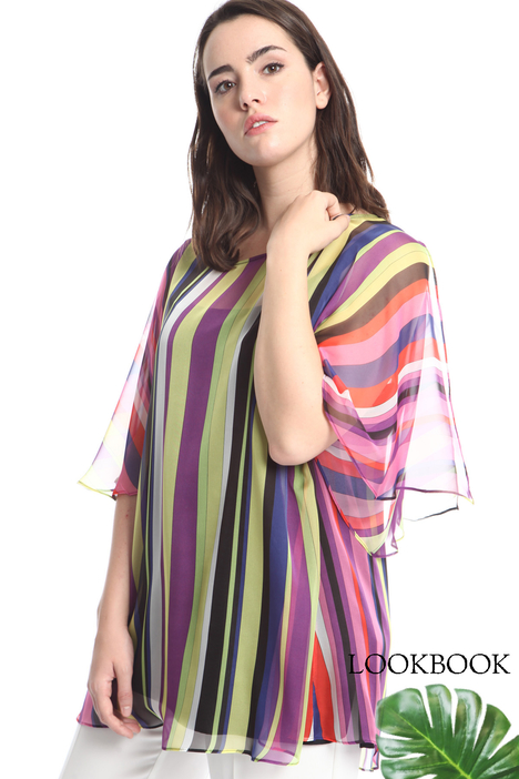 Striped georgette blouse Intrend