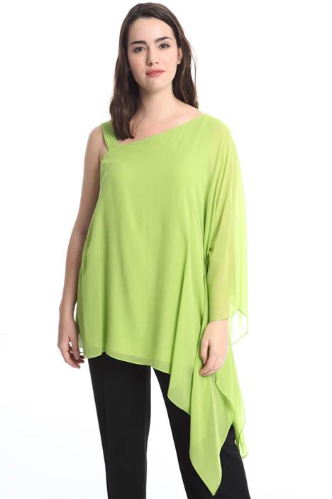One-shoulder silk blouse Intrend
