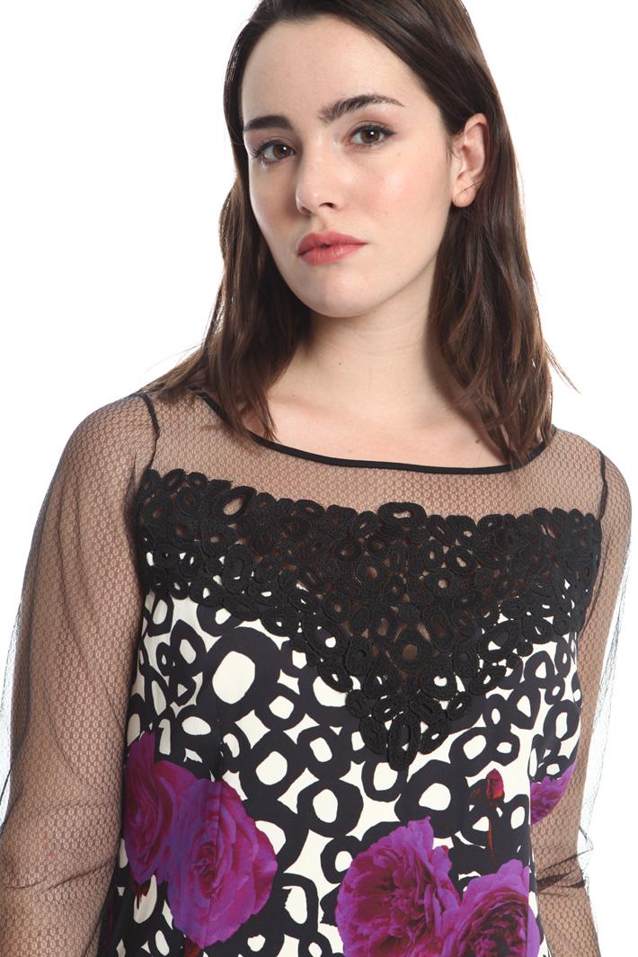 Printed cady sheath dress Intrend