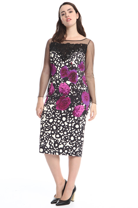 Printed cady sheath dress Intrend