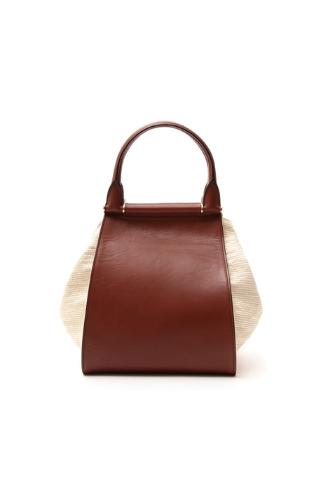 Leather and cotton bag Intrend