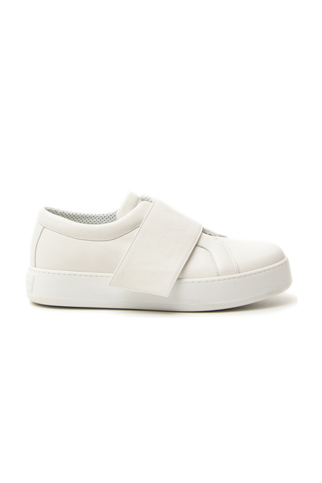 Semi-glossy leather sneakers Intrend