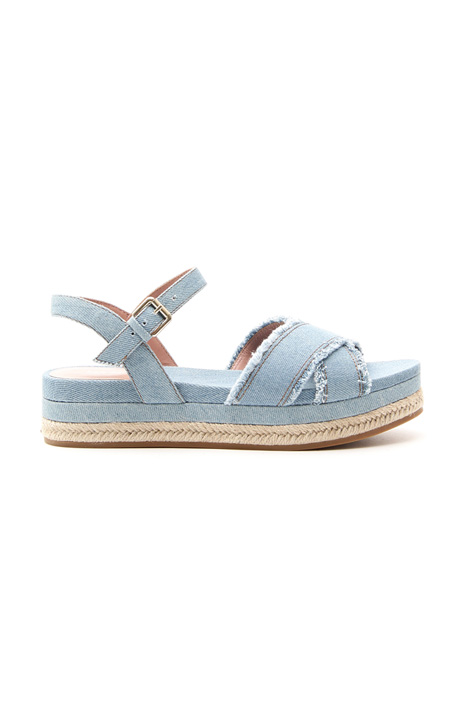 Frayed denim sandals Intrend