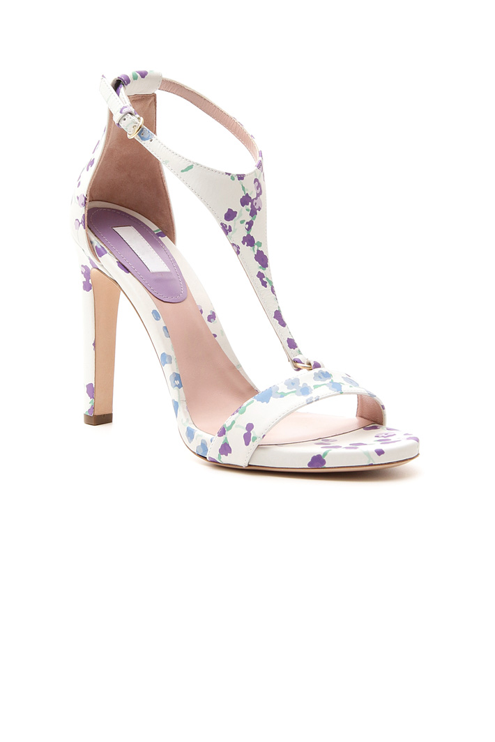 Printed leather sandals Intrend