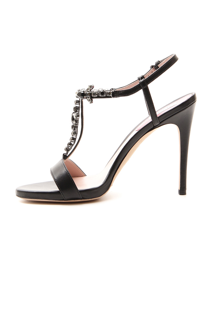 Jewel sandals in leather Intrend